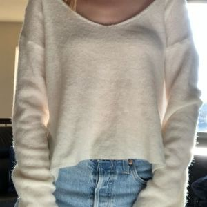 White thin sweater